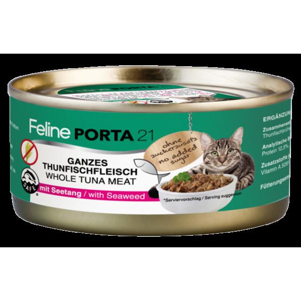feline-porta-21-alimentacion-humeda-natural-atún-algas-sin-cereales-156gr