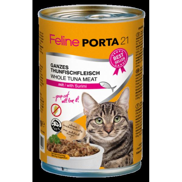feline-porta-21-alimentacion-natural-humeda-atun-surimi-sin-cereales-400gr